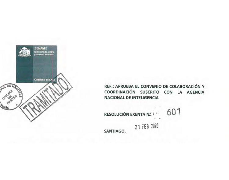 ¿Niñ@s Primero?: Vigilancia Estatal y el Convenio entre SENAME y ANI