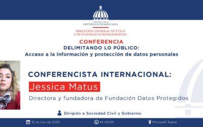 Jessica Matus participó de «Delimitando lo público: Acceso a la información y protección de datos personales» de la Dirección General de Ética e Integridad gubernamental de República Dominicana