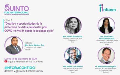 Jessica Matus participa de «Desafíos y oportunidades de la protección de datos personales post COVID-19» organizado por INFOEM